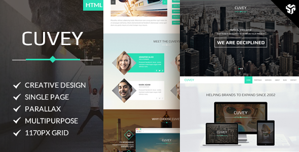 Cuvey | Multi-Purpose Parallax HTML Landing Page