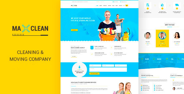 Max Cleaners & Movers - HTML Template