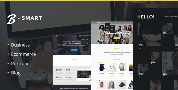 Business, Blog, Store/Ecommerce and Portfolio HTML5 Template