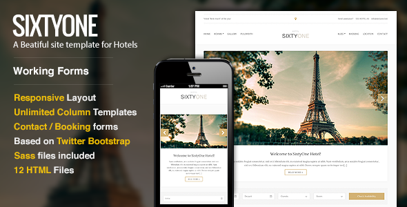 SixtyOne - Responsive Hotel Template