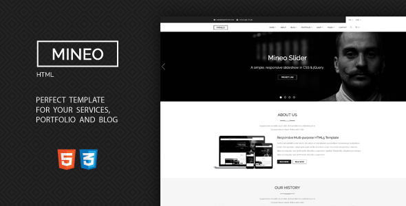 Mineo - MultiPurpose HTML Template