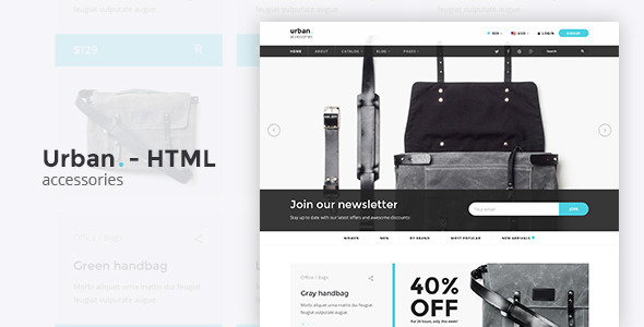 Urban Accessories - HTML E-Commerce Template