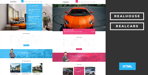 Realhouse & Realcars - Multipages HTML Template