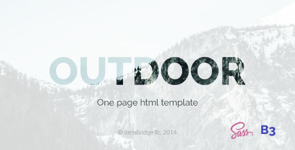 Outdoor — OnePage Responsive Template
