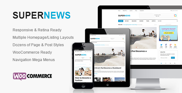 SuperNews - Ultimate HTML5 Magazine Template