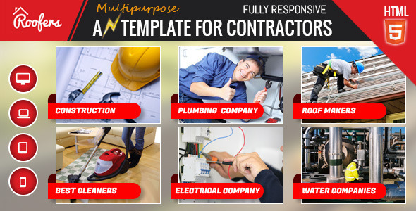Roofers - Construction & Contractor HTML Template