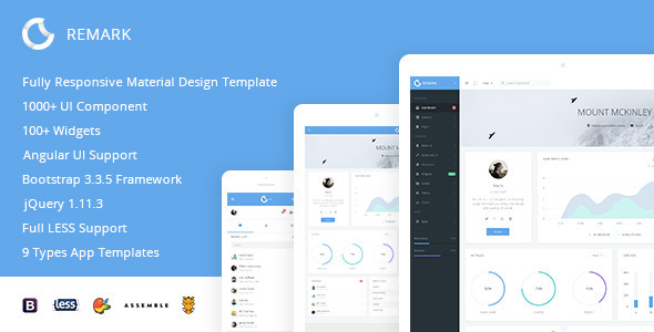 Remark - Responsive Bootstrap Admin Template