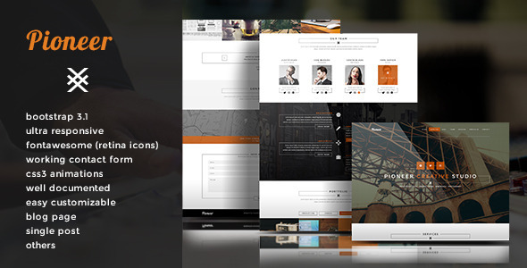 Pioneer - Single Page Html5 Template