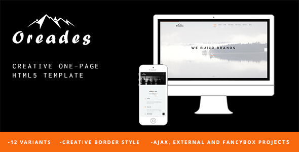 Oreades - Creative One-Page HTML5 Template
