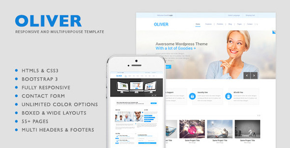 Oliver - HTML5 Multipurpose Template