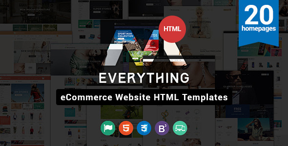 Everything Store - Multipurpose Responsive HTML Ecommerce Template