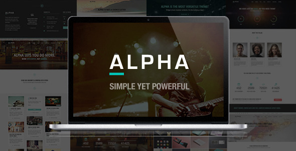 Alpha - Ultra Responsive Multi Purpose HTML5 Theme