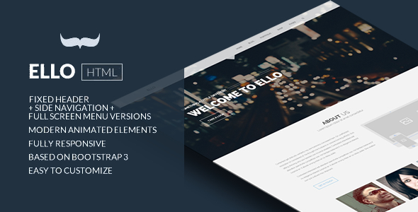 Ello - Responsive Bold Multipage/Onepage Template