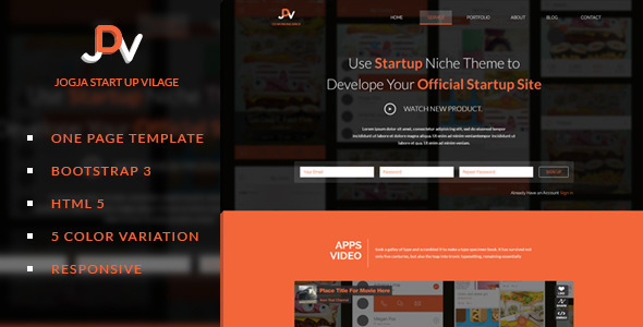 JDV - Responsive Parallax One Page HTML5 Template