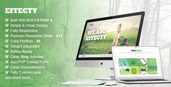 Effecty - Responsive Single Page Template