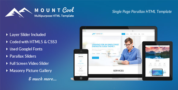 Mountcool - Creative One Page Multipurpose Template