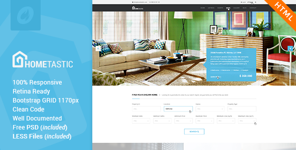 Hometastic - Real Estate HTML5 Template