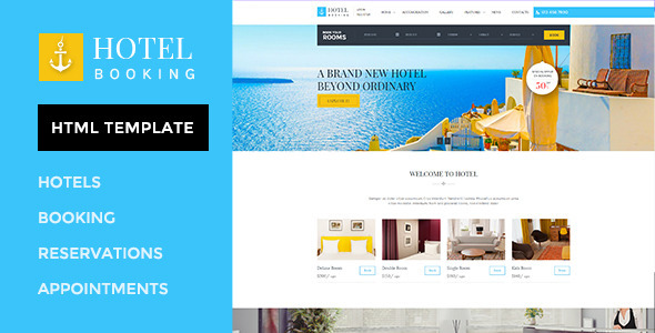 Hotel Booking - HTML Template for Hotels