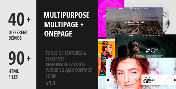 Quantum - Creative Multipurpose HTML5 Template