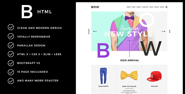BOW - Parallax Responsive Fashion Template