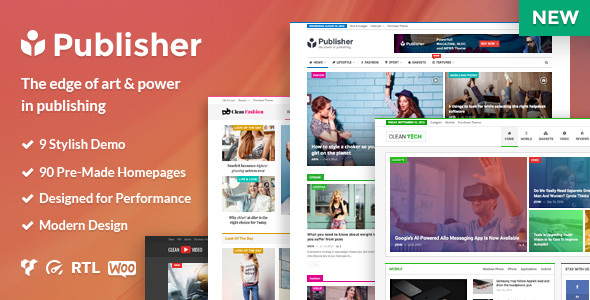 Publisher - Magazine, Blog, Newspaper and Review WordPress Theme