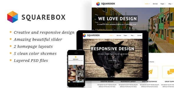 Squarebox - Creative Multi-Purpose HTML Theme