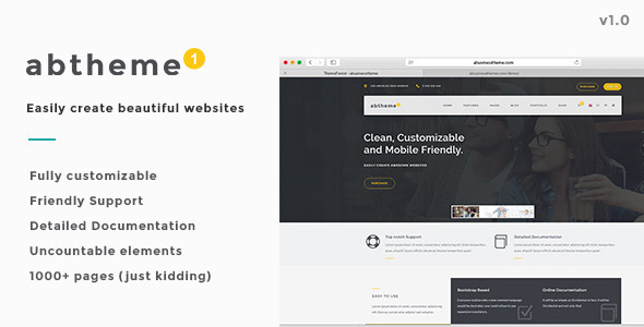 ABT - Bootstrap Responsive HTML5 Template