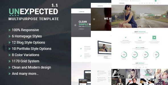 Unexpected Multipurpose HTML Template