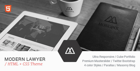 MONOPOL - Lawyers & Business HTML Template