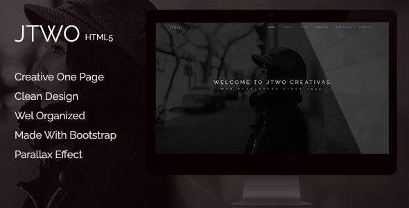 jTwo - One Page Parallax Template