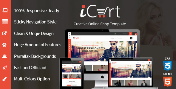 iCart - eCommerece HTML5 Responsive Shop & Store
