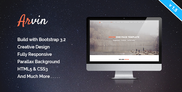 Arvin - Multipurpose One Page Template