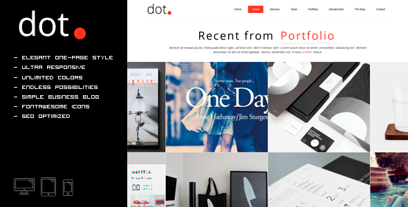 DOT - Creative One Page HTML Template