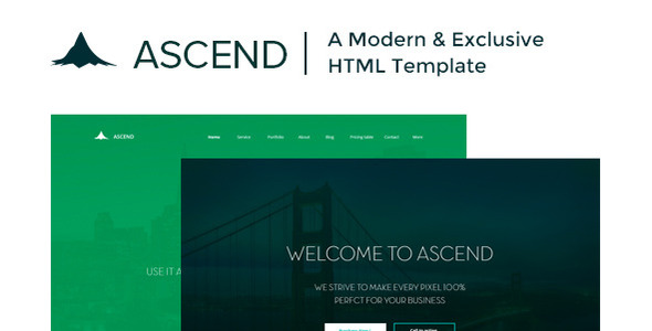 Ascend | Single Page HTML Template