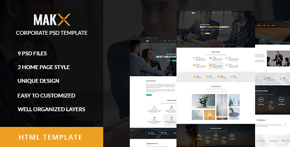 MAKX - Corporate HTML Template