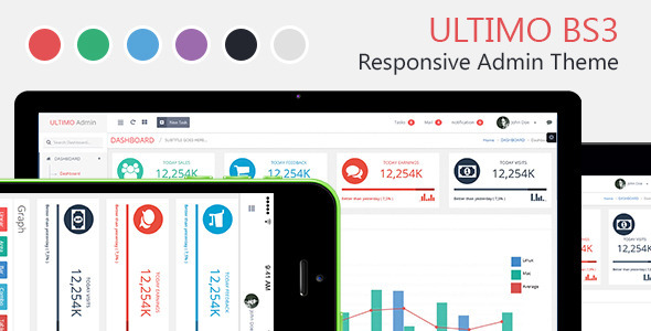 Ultimo Admin Dashboard Template Bootstrap 3