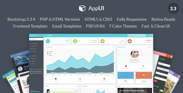 AppUI - Web App Bootstrap Admin Template