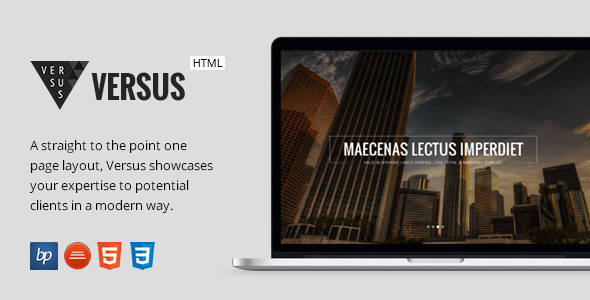 Versus - Responsive One Page HTML5 Template