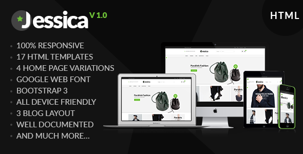 Jessica - Multipurpose Ecommerce HTML Template