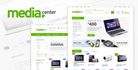 Media Center - Electronic eCommerce HTML Template