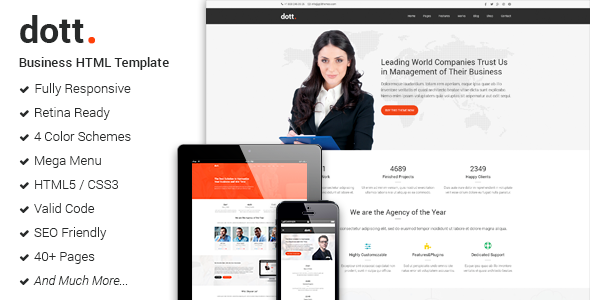 Dott - Business HTML Website Template