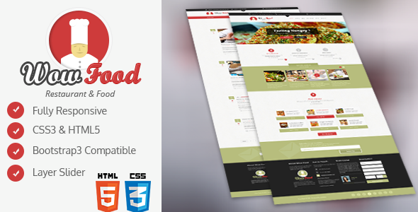 WOW Food HTML Template