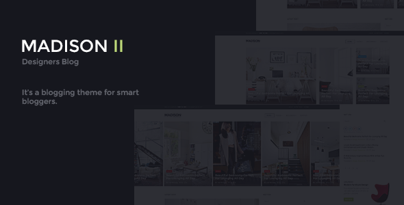 MADISON II - Clean Designers Blog Template