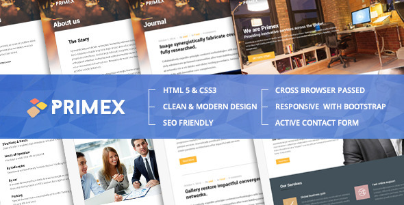 Primex - HTML5 Responsive Business Template