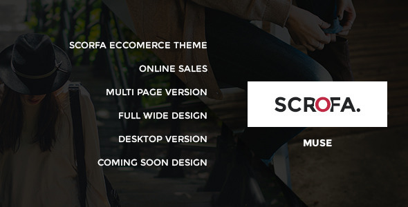 Scrofa Ecommerce Muse Template