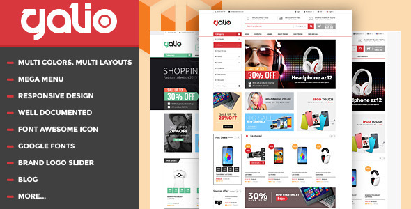 Galio - Mega Shop Responsive HTML Template