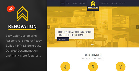 Renovation - Construction Company Site Template