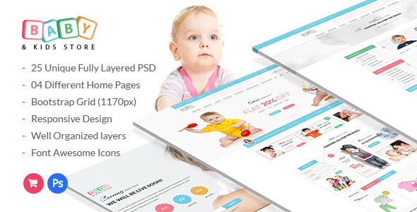 Baby & Kids Store eCommerce HTML Template
