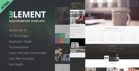 ELEMENT - Multipurpose HTML5 Template