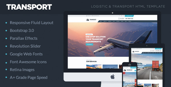 Transport - Logistic, Transportation & Warehouse HTML5 Template
